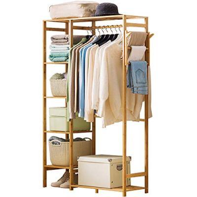Ufine Bamboo Garment Rack 6 Tier Storage