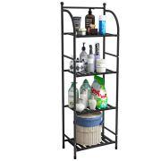 FKUO 4 Tier Bathroom Storage Open Shelf Unit