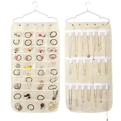 Hanging Jewelry Oganizer Dual-Sided Storage Bag