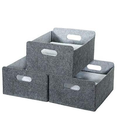 Small Storage Baskets Shelf Baskets Felt Drawer Organizer Storage
