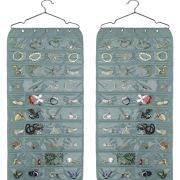 80 Pockets Grey Organizer for Holding Jewelries