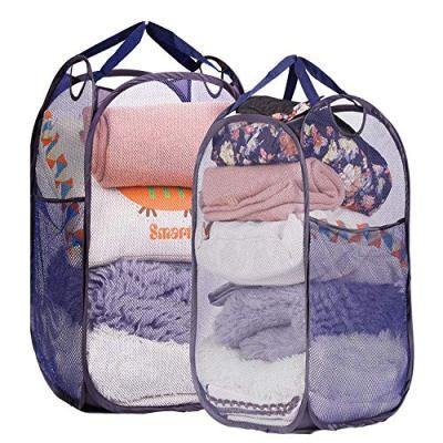 Mesh Pop-up Laundry Hamper, Folding Laundry Basket