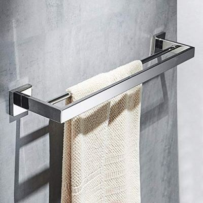Bathroom Double Towel Bar,23.6 Inch Towel Rack Wall Mount