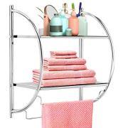 Safeplus Wall Mounted Bathroom Shelf with Towel Bars