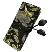 Wei Long@Jewelry Roll, Travel Jewelry Roll Bag