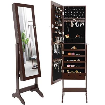 ZenStyle Mirror Jewelry Cabinet Armoire, Full Length Mirror