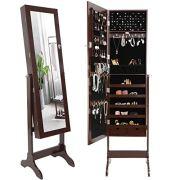 ZenStyle Mirror Jewelry Cabinet Armoire, Full Length Mirror