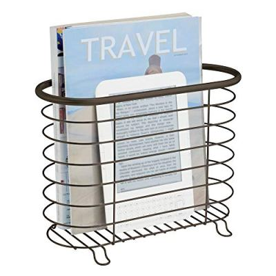 mDesign Decorative Metal Farmhouse Magazine Holder and Organizer Bin