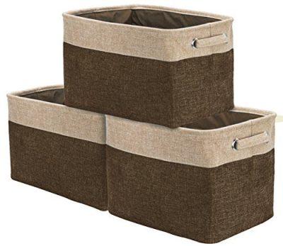 Large Basket Set Collapsible Organizer Bin Box