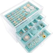 Jewelry Box Organizer for Earring Necklace Ring & Bracelet