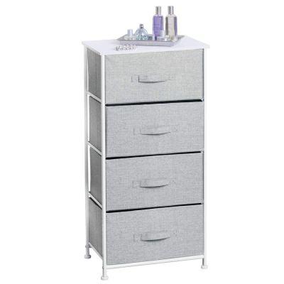 mDesign Vertical Dresser Storage Tower - Sturdy Steel Frame