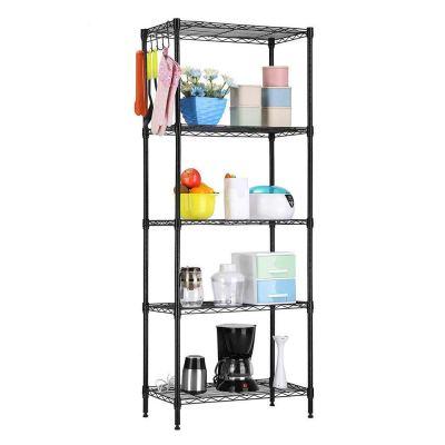 5-Tier Storage Rack Standing Shelf Wire Shelving