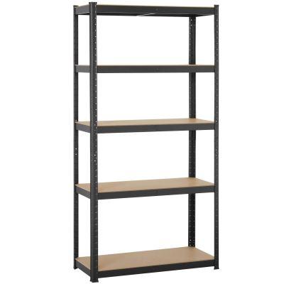 Yaheetech Black 5-Shelf Steel Shelving Unit Storage