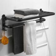 24-inch Wall-Mounted Bath Towel Racks, No Rust