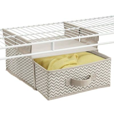 Soft Fabric Over Closet Shelving Hanging Storage Organizer