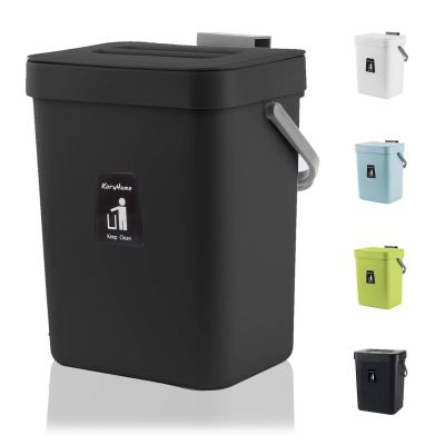Hanging Small Trash Can with Lid Under Sink