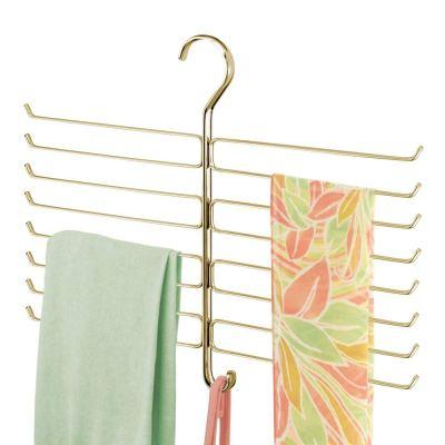 mDesign Metal Closet Rod Hanging Accessory Storage Organizer Rack