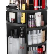 Adjustable Bathroom Makeup Carousel Spinning Holder Rack