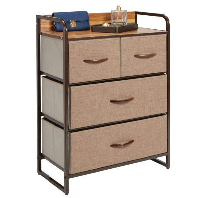 mDesign Dresser Storage Chest - Sturdy Metal Frame