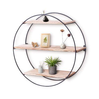 KingSo Wall Shelf Rustic Wood Floating Shelves,Decorative Wall Shelf for Bedroom