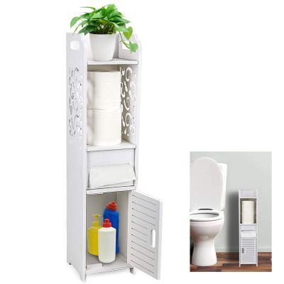 Storage Toilet Paper Storage Corner Floor Cabinet
