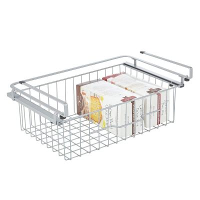 mDesign Hanging Baskets, Sliding Under Shelf Hanging Wire Storage