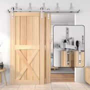 Double Doors Kit Cabinet Closet System Silver