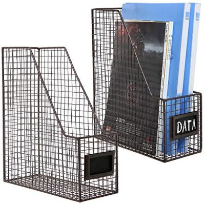 Rustic Metal Wire Document Magazine Storage Baskets
