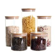 Storage Jars Containers with Airtight Bamboo