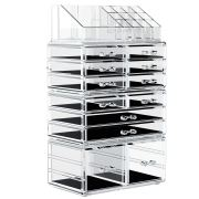 Organizer Cosmetic Storage Drawers and Jewelry Display Box
