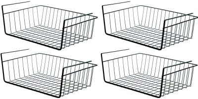 PENGKE Black Under Shelf Basket,4 Pack Slides Under Cabinet Storage