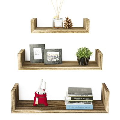 SRIWATANA Floating Shelves Wall Mounted, Solid Wood Wall Shelves