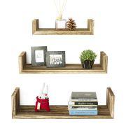 SRIWATANA Floating Shelves Wall Mounted, Solid Wood Wall Shelves