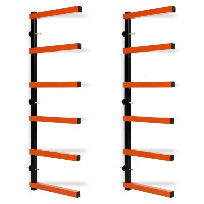 Storage Rack Wall-Mounted Wood Pipes