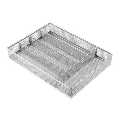 Steel Mesh Kitchen Cutlery Trays Silverware