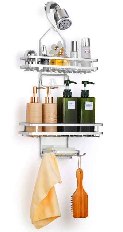 Bextsrack Hanging Shower Caddy, Adjustable Bathroom Shower Organizer Rack