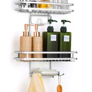 Bextsrack Hanging Shower Caddy, Adjustable Bathroom Shower Organizer Rack