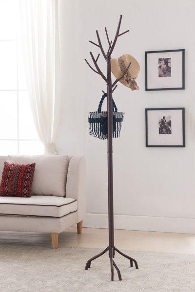 Kings Brand Bronze - Finish Metal Hall Tree Coat & Hat Rack