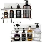JOLLY LIFE 2 Pack Shower Caddy Bathroom Shelf, Stainless Steel
