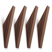Pack of 4, Minimalist Design, Black Walnut Wood