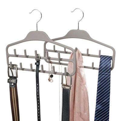 Belt Hanger Organizer 2 Pack, Non Slip Tie Rack Holder