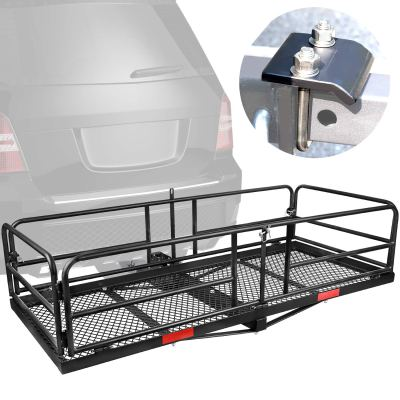 XCAR Hitch Mount High Side Cargo Carrier Rack Luggage