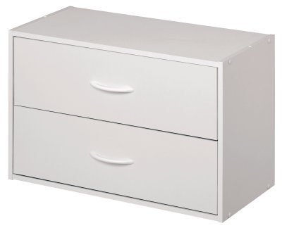 Stackable 2-Drawer Horizontal Organizer