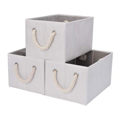 StorageWorks Storage Bins With Cotton Rope Handles