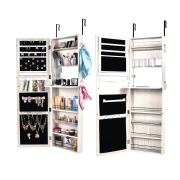 Wall Mount Jewelry Armoire with Keys