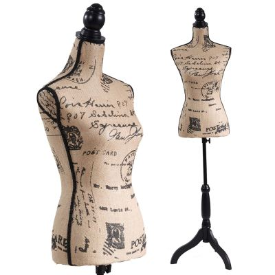 Female Mannequin Torso Dress Form Black Tripod