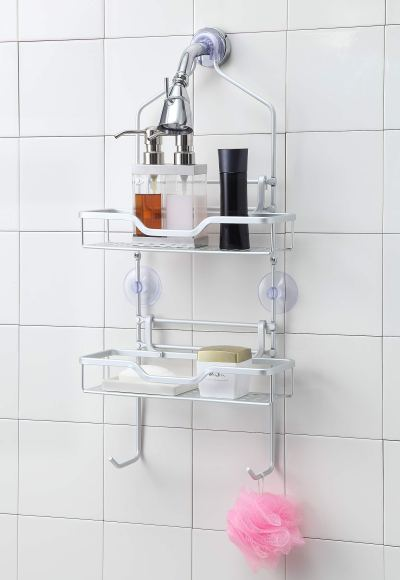 Aluminum Shower Caddy Over The Shower Head/Over The Door
