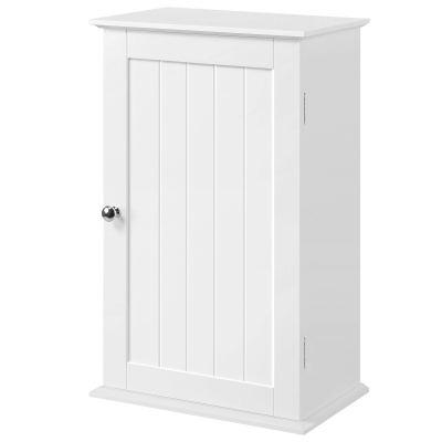 Wall Mounted Single Door 3 Tier Adjustable Storage Shelf