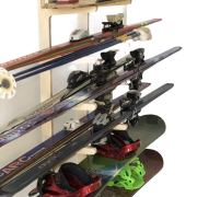 Freestanding Ski Rack for: Snowboards, Skis, Skateboards, Scooters