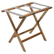 Wooden Mallet Deluxe Straight Leg Luggage Rack